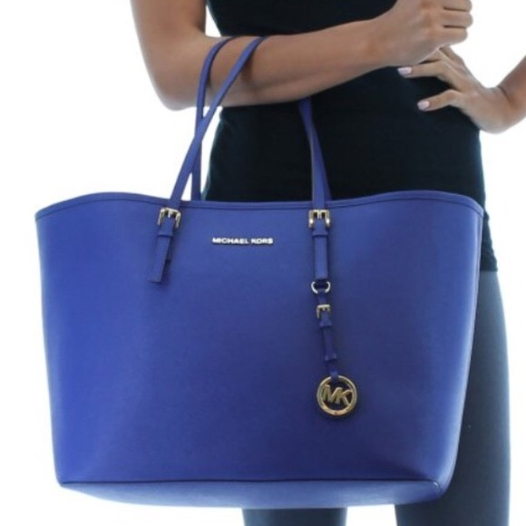Royal Blue MK Tote Bag